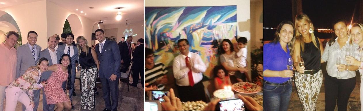 Flávio Dino esbanja comida e bebidas em festa de arromba no Palácio dos Leões