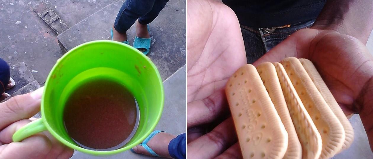 Em Timon, merenda escolar é meio copo de ki-suco e cinco biscoitos de maizena