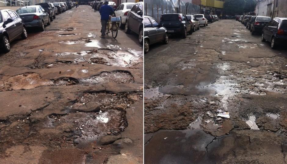 Menos Asfalto: Rua que dá acesso ao Hospital Aldenora Bello está abandonada