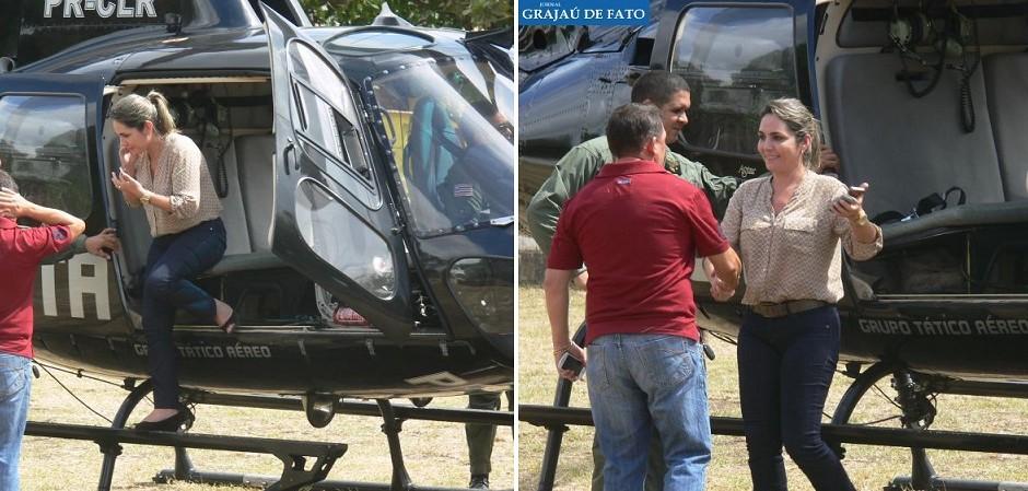 Propina: Assessora de Flávio Dino já usou helicóptero do GTA para negociar com indíos