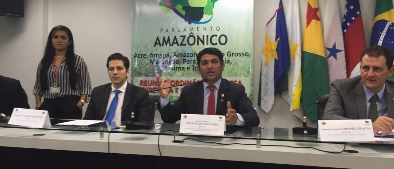 Wellington participa da 1ª Reunião do Parlamento Amazônico, em Manaus