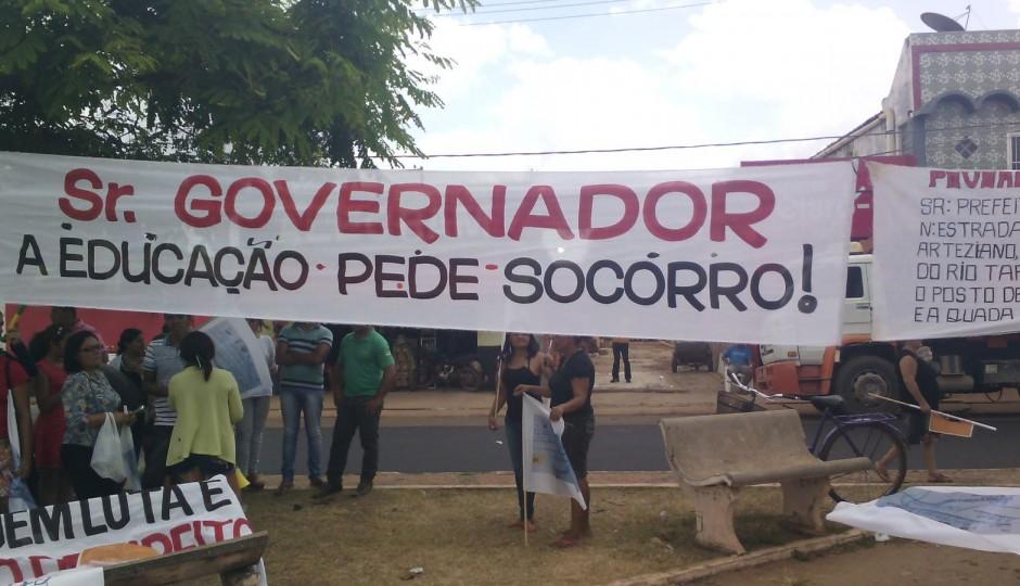 Agressões e protesto marcam visita de Flávio Dino ao município de São Mateus