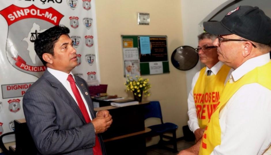 Greve da Polícia Civil: Wellington do Curso reafirma apoio à classe durante visita ao Sinpol