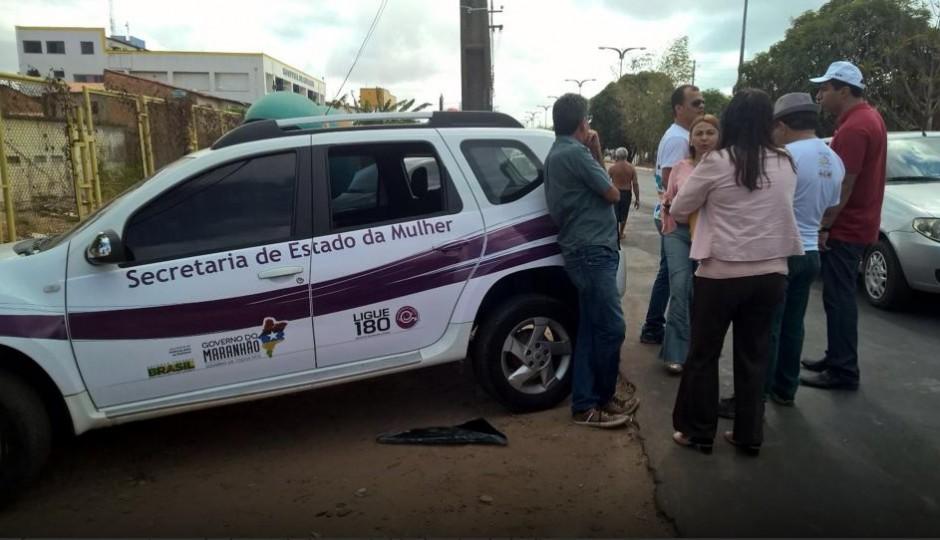 Ladrões roubam carro da Secretaria da Mulher no Anjo da Guarda
