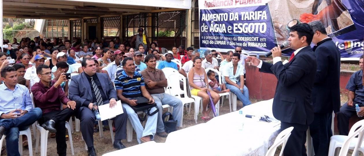 Audiência pública discute tarifas abusivas da Odebrecht em Ribamar e Paço do Lumiar