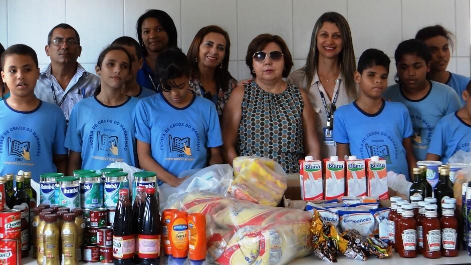Escola de Cegos recebe doação de alimentos do Inmeq-MA