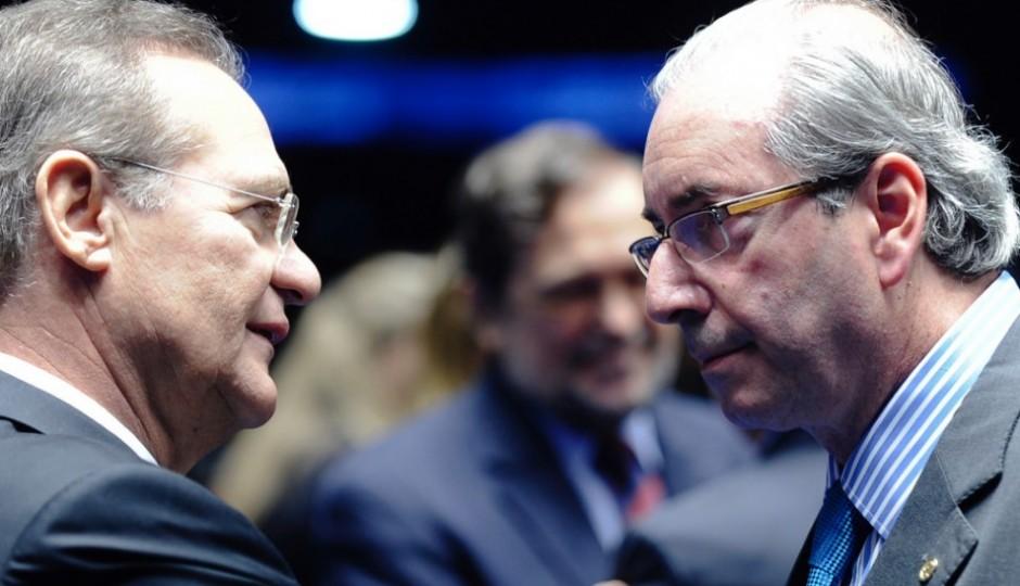 """""""Vão acabar decretando a prisão dele"""", afirma Renan Calheiros sobre Eduardo Cunha"""