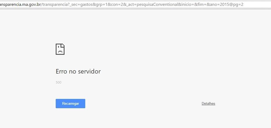 Hildo Rocha denuncia que Portal da Transparência do Estado está inacessível