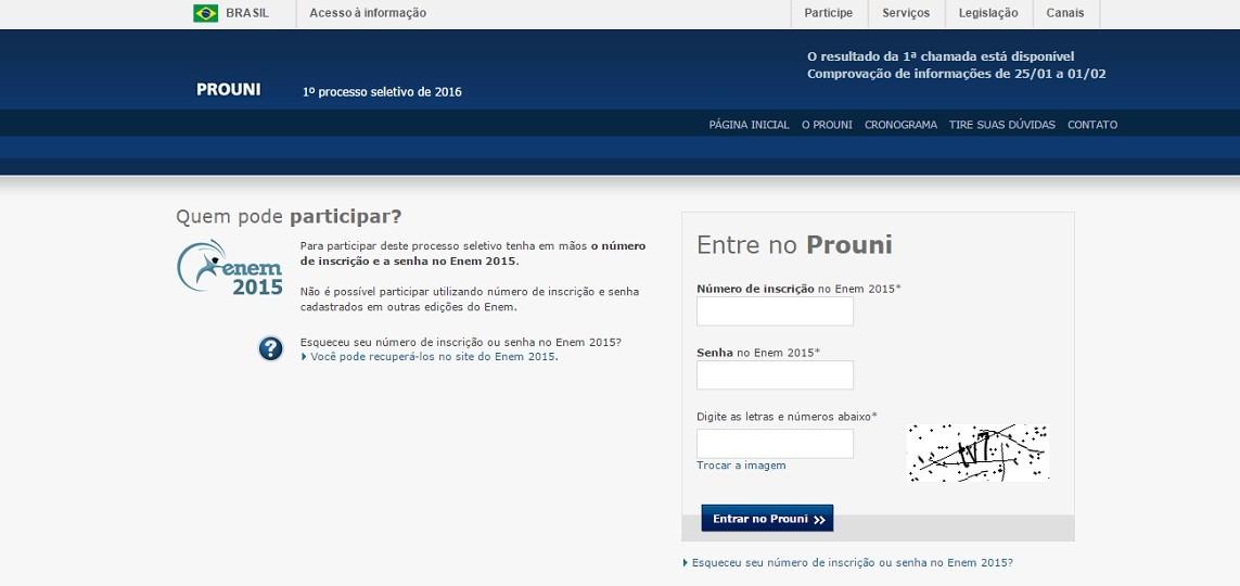 MEC divulga lista de aprovados no Prouni 2016
