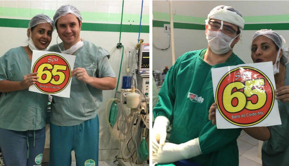 Médico e enfermeira fazem campanha dentro de hospital em Barra do Corda