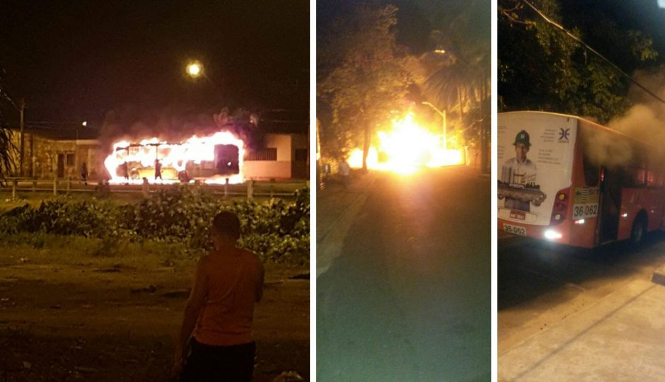 URGENTE! Facções iniciam série de ataques a ônibus em São Luís