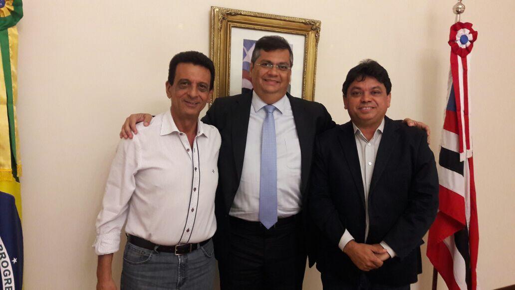 Flávio Dino reúne com o prefeito reeleito de Açailândia, Juscelino Oliveira