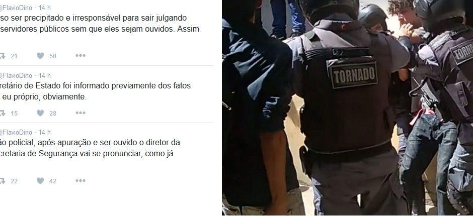 Flávio Dino evita condenar agressão de PMs a estudantes no Liceu Maranhense