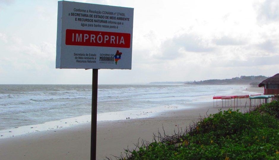 Todas as praias de São Luís e Ribamar são impróprias para banho, aponta levantamento