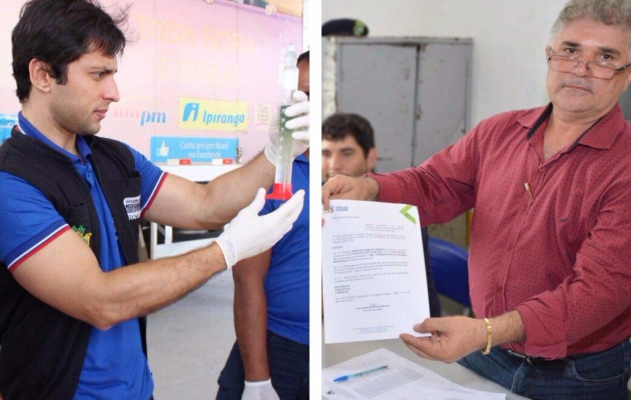 Duarte Júnior lacra bomba de posto de Carlinhos Barros