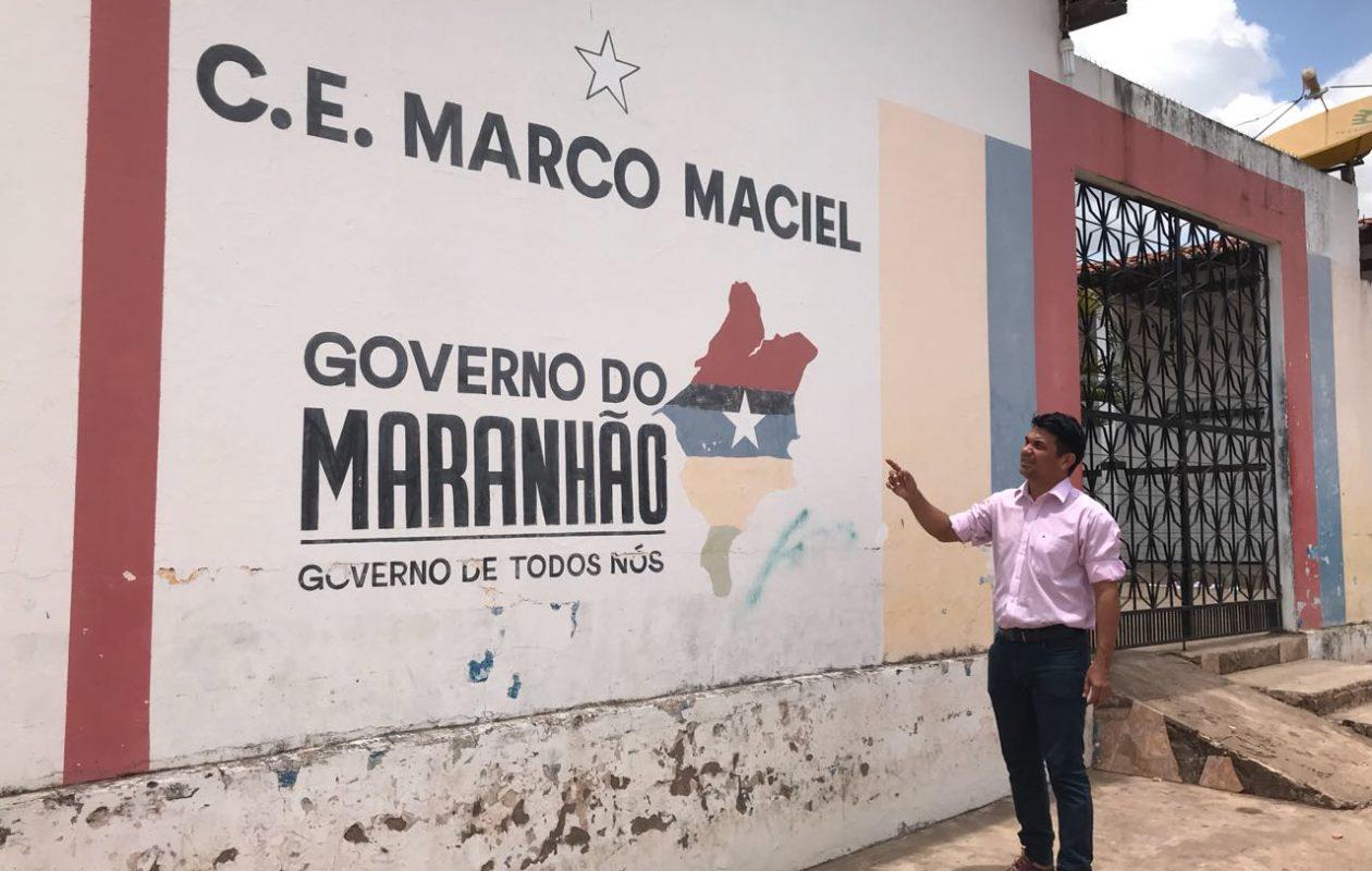 Escola Digna: unidade que desabou teve apenas pintada a logomarca do governo