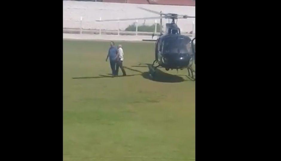 Flávio Dino leva Gastão Vieira em helicóptero do CTA para Anapurus