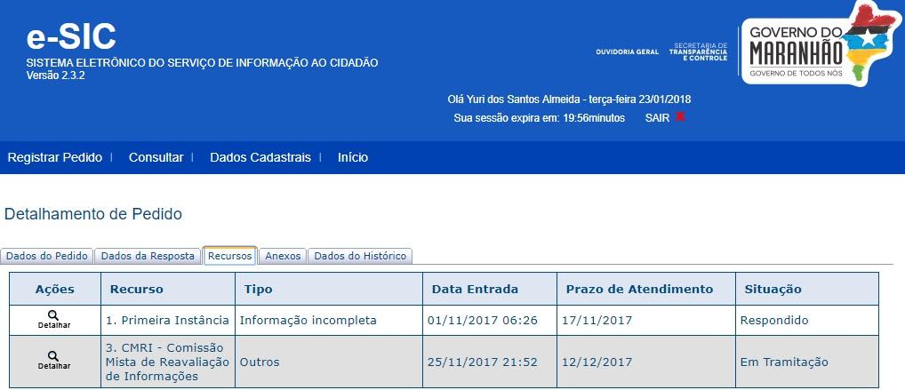 Recurso em 2ª instância ainda aguarda por resposta da STC até hoje, após data limite estar vencida desde o dia 12 de dezembro de 2017
