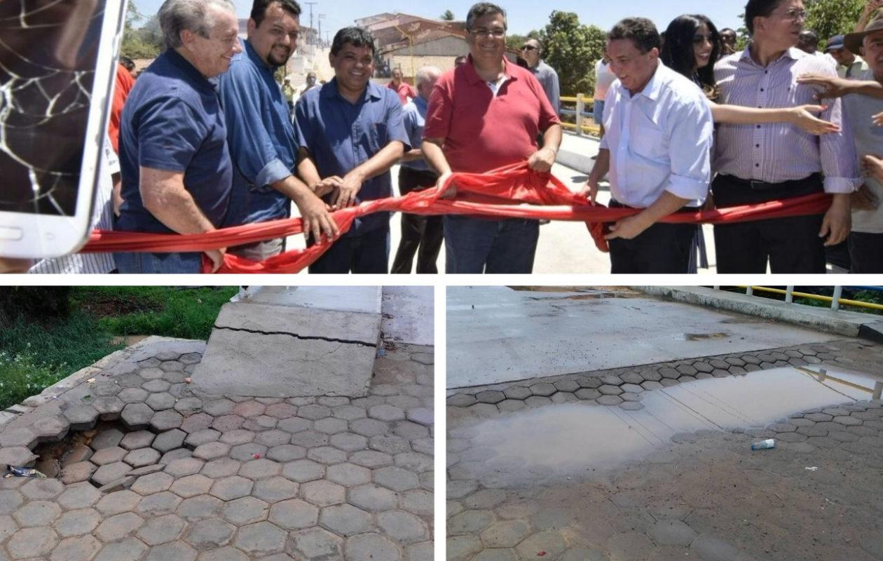 Ponte recém-inaugurada por Dino volta a ter afundamento na cabeceira