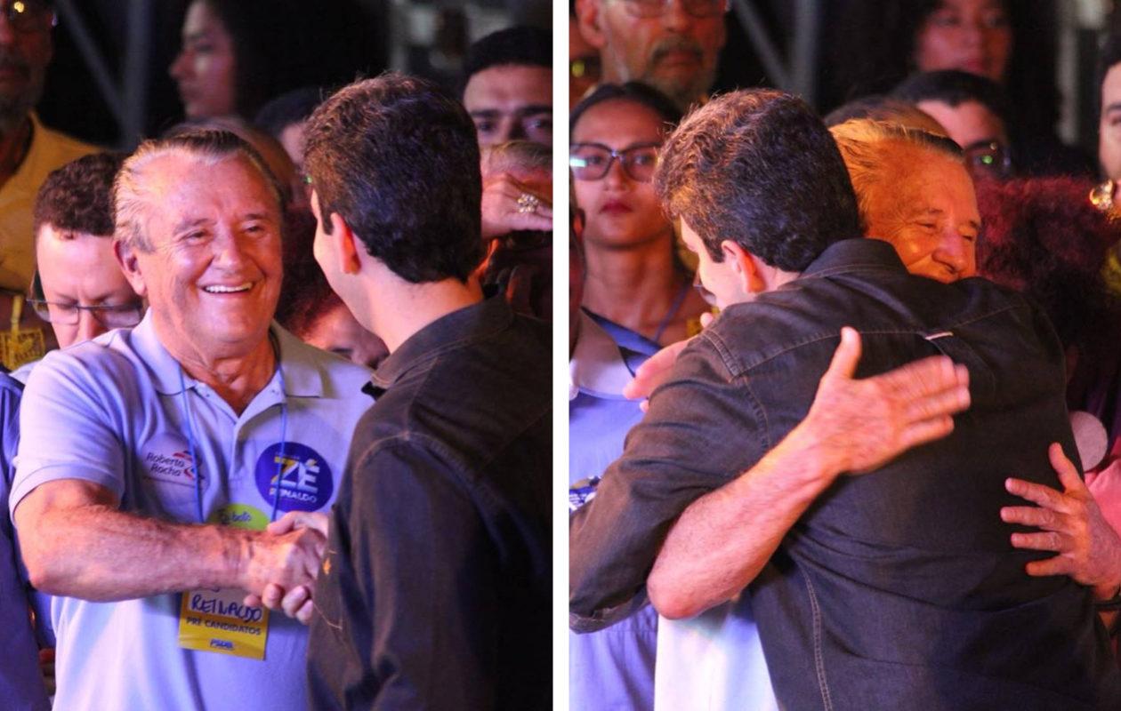 """""""Vamos em frente meu senador"""", diz Eduardo Braide para Zé Reinaldo"""