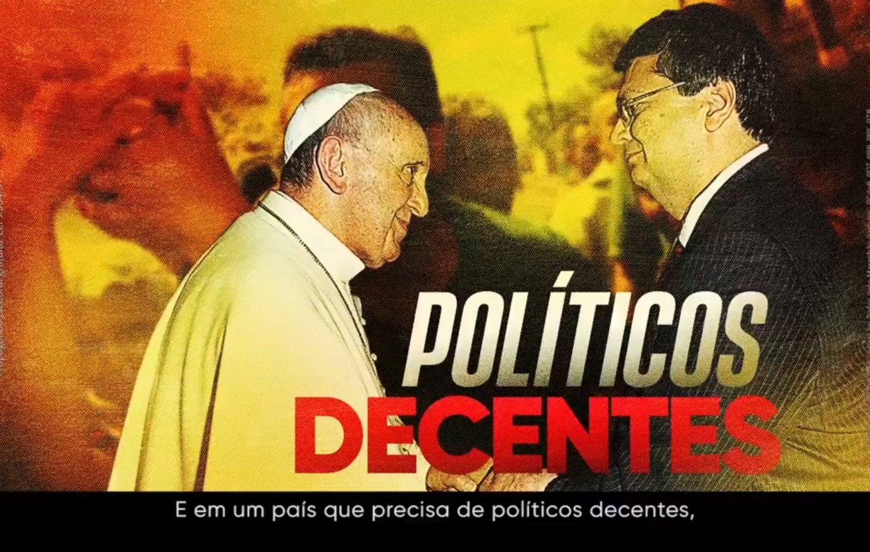 Receio de 2º turno faz Dino sacar foto com o Papa e carta digitada de Lula