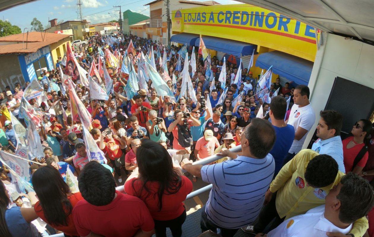 MP revela farsa de multidão em ato de campanha de Flávio Dino
