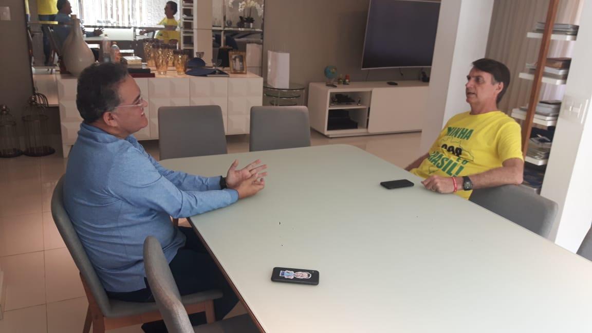 Roberto Rocha apresenta a Zema a Jair Bolsonaro