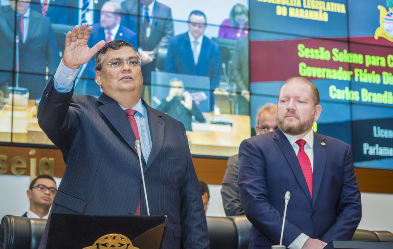 Dino promete compromisso com equilíbrio fiscal, honestidade e direitos humanos