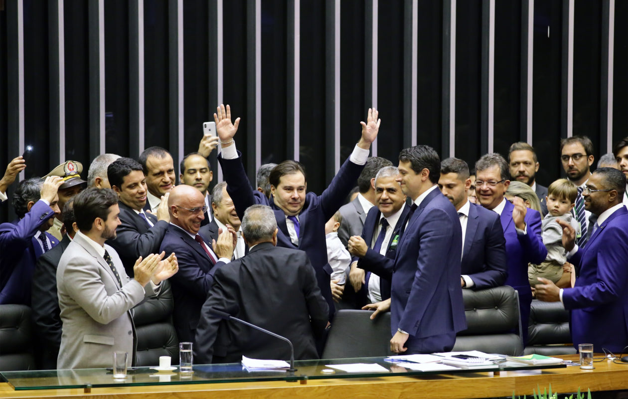 Rodrigo Maia é eleito para novo mandato como presidente da Câmara