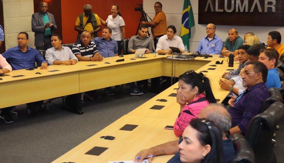 Vereadores e técnicos vistoriam barragens de resíduos da Alumar