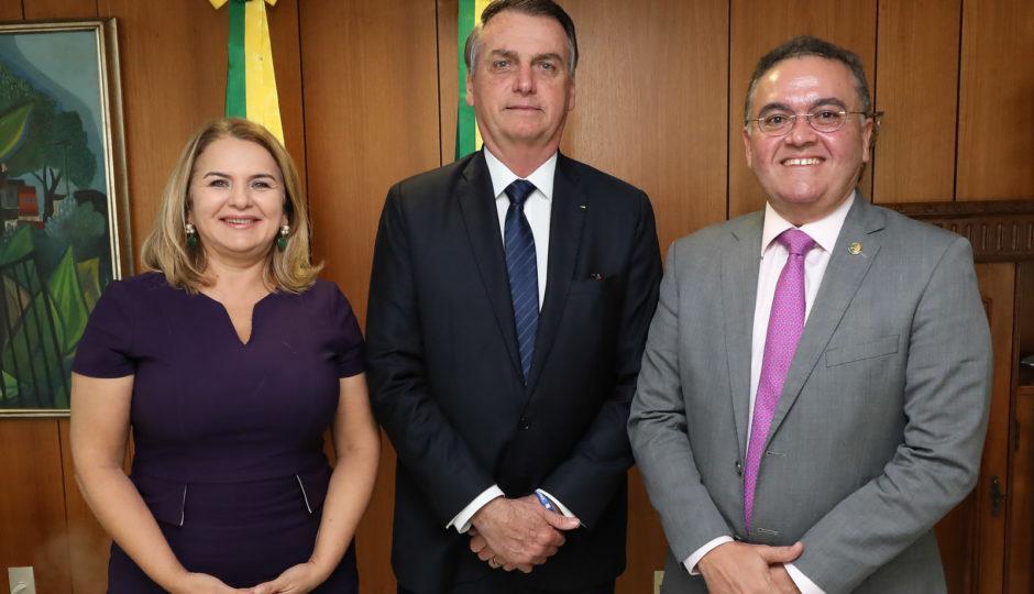 Roberto Rocha e Maura Jorge se reúnem com Bolsonaro