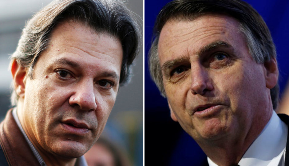 Se eleição fosse hoje, Haddad venceria Bolsonaro, diz Datafolha