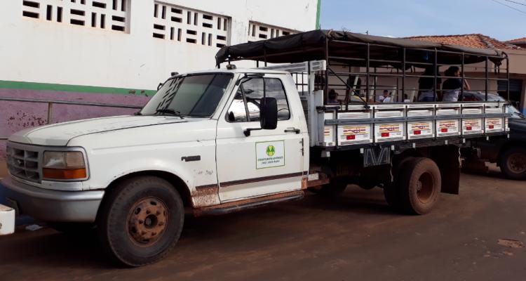 Em 2018, durante fiscalização em Sitio Novo do Maranhão, auditores verificaram estudantes desprotegidos em carroceria de caminhão de carga. Foto: Divulgação