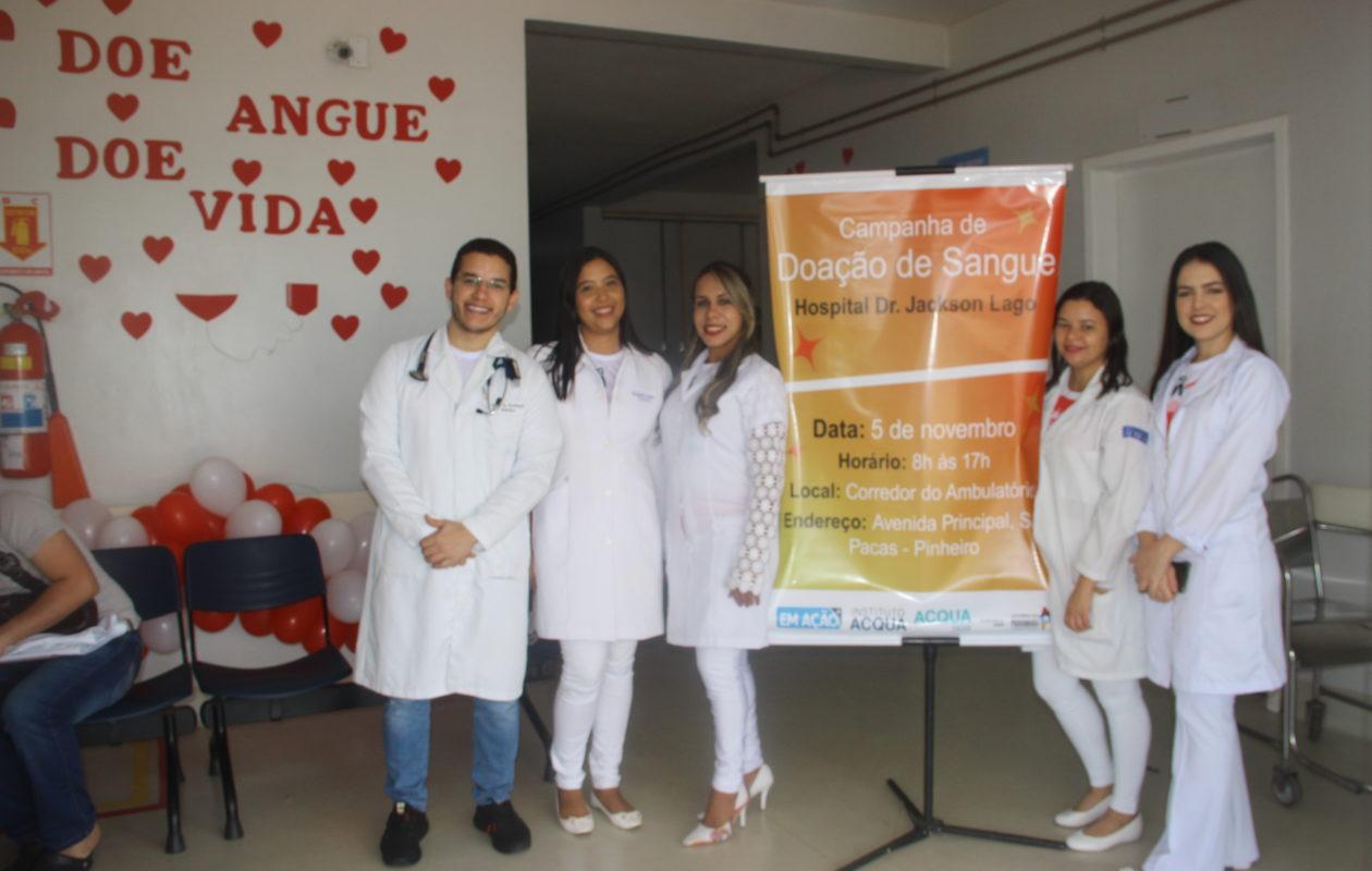 Hospital Dr. Jackson Lago coleta 82 bolsas de sangue em campanha de doação