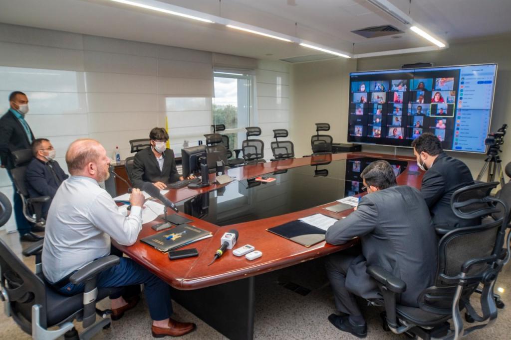 Em sessão virtual inédita, Alema aprova decreto de calamidade pública
