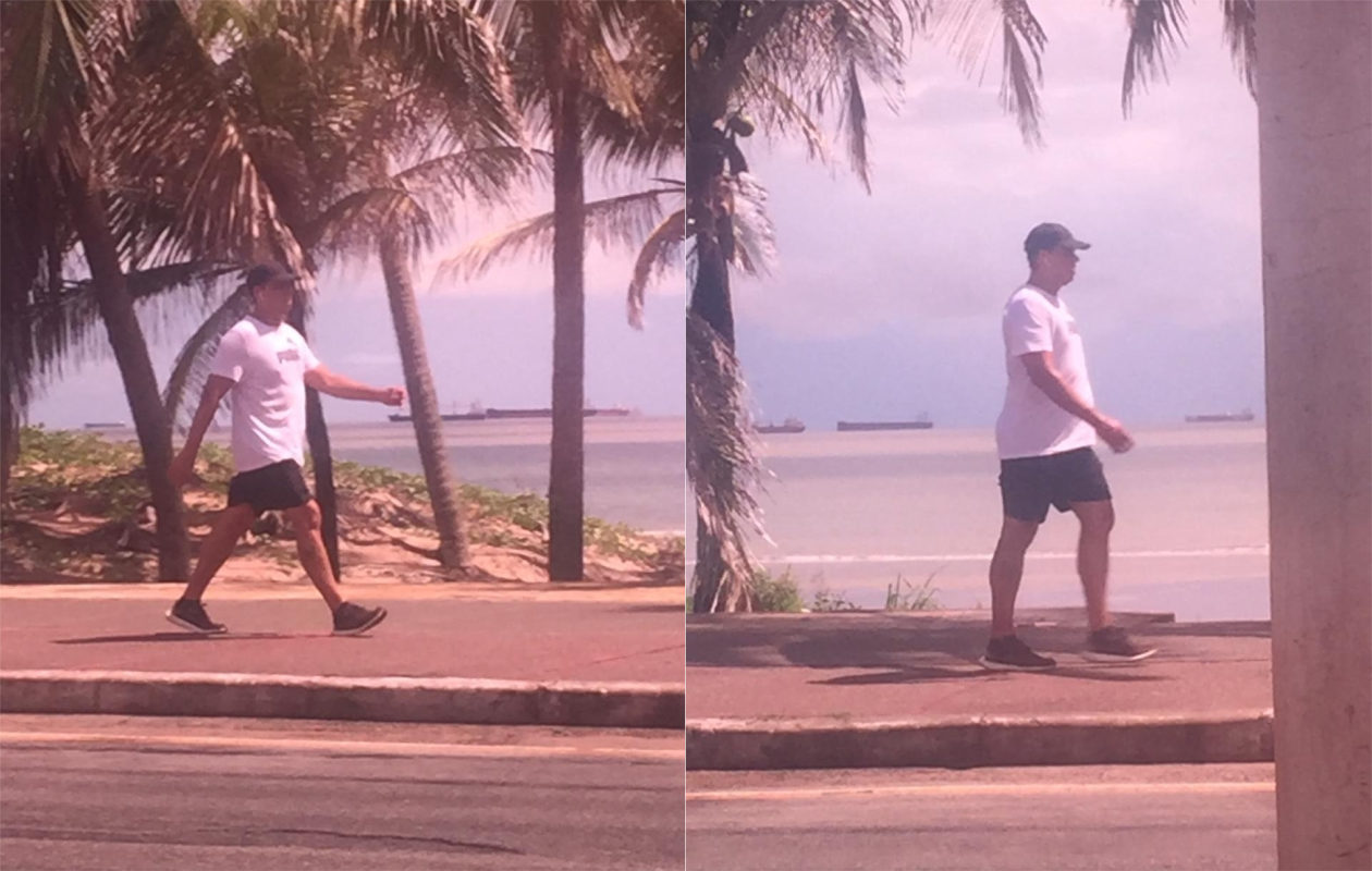 Secretário de Saúde, Lula Fylho desobedece norma de isolamento e faz caminhada na Litorânea