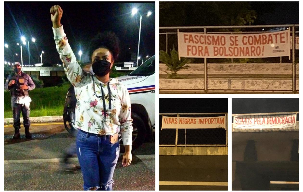 PM do MA impede fixação de faixas pró-democracia e contra Bolsonaro
