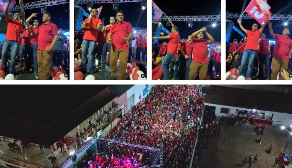 Presidente do Conass, Carlos Lula aglomera sem máscara em convenção de aliado do PT