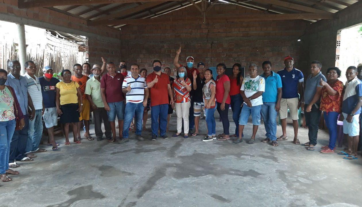 Em Anajatuba, entidades quilombolas declaram apoio a James Mendes