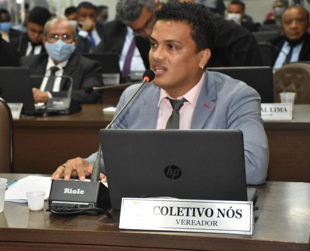 O representante do Coletivo Nós na Câmara Municipal de São Luís, co-vereador Jhonatan Soares