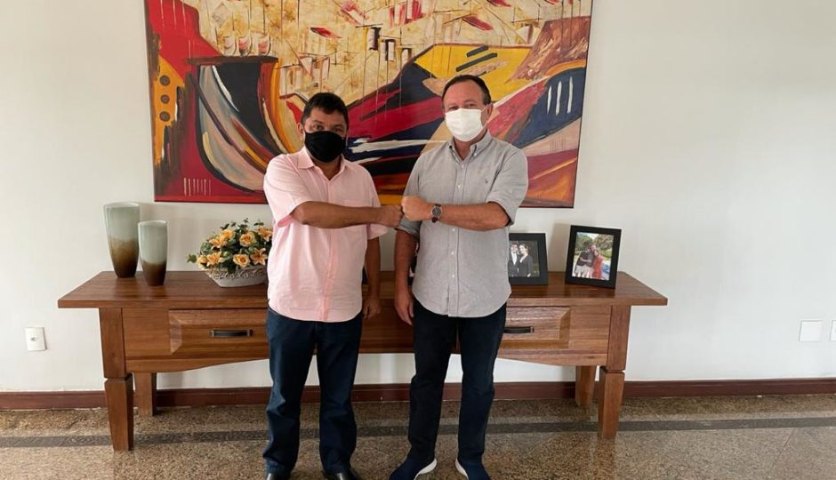 Governador e vice na chapa de 2022, Brandão e Jerry se reúnem para tratar sobre convênios