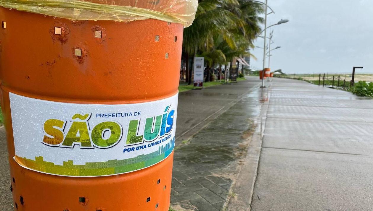 Falta de transparência dificulta acesso a gastos da Prefeitura de São Luís com adesivos em lixeiras