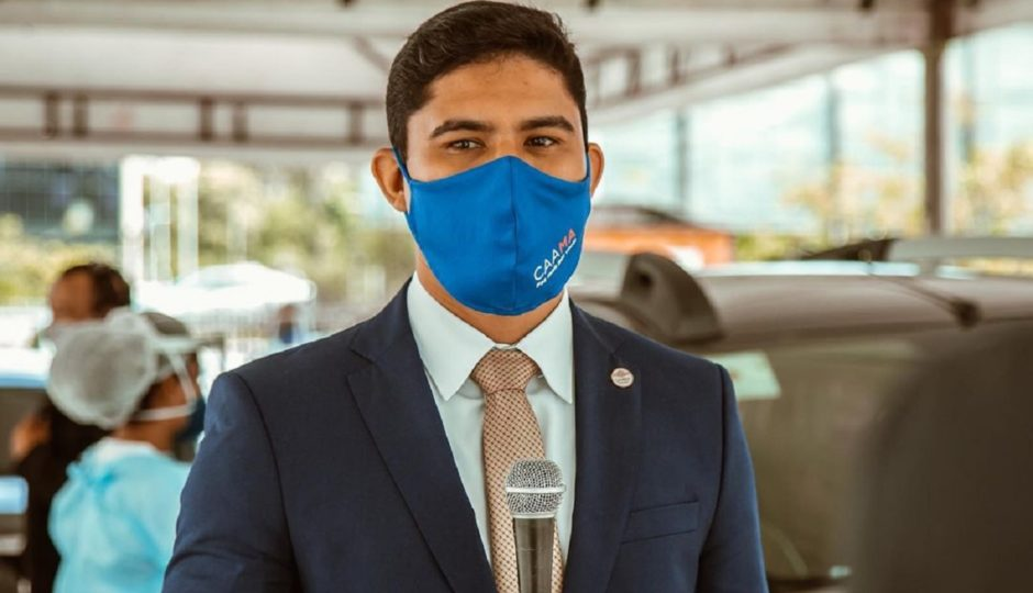 Diego Sá, presidente da Caama, pede a Dino prioridade a advogados na vacinação contra Covid-19