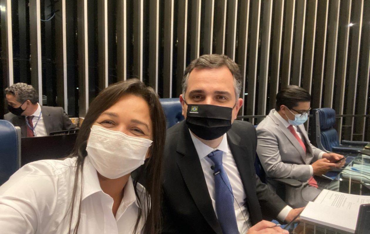 Eliziane Gama consolida liderança e é cotada para vice de Rodrigo Pacheco ao Planalto em 2022