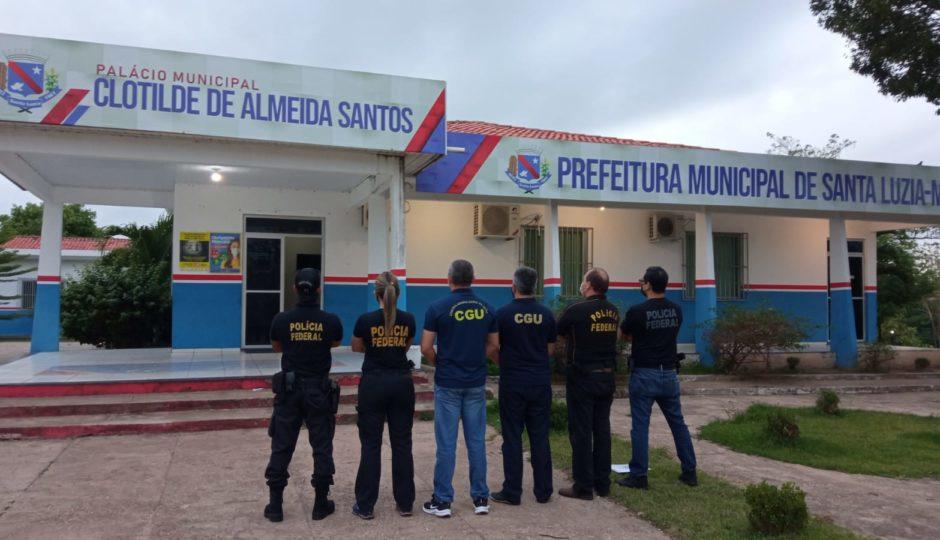 PF faz operação contra desvios de dinheiro da Covid em Bernardo do Mearim e Santa Luzia